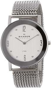 Skagen Damen-Armbanduhr XS Analog Quarz Edelstahl 39LSSS1