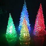 Bunte Weihnachtsbaum Nachtlichter 3D Romantische Acryl Kreative Beleuchtung Kleines Geschenk Bars Visuelle Lichter (4 Pack)