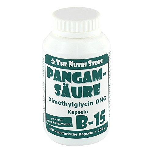 Pangamsäure B-15 50 mg vegetarische Kapseln 200 Stk. - Dimethylglycin DMG Kapseln