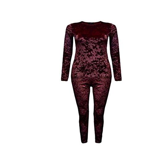 JAVOX Fashion's -  Tuta da ginnastica  - Donna Wine