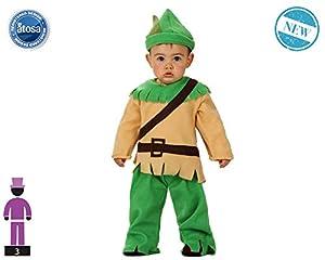 Atosa-61303 Atosa-61303-Disfraz Duende-Bebé + 24 Meses-NIño-Verde, color (61303)