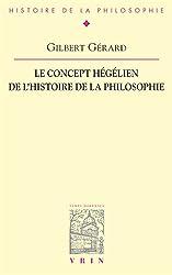 Le concept hégélien de l'histoire de la philosophie
