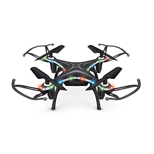 QUINTRA X13D Drohne 2,4 GHz 4CH Led Mini Fernbedienung RC Quadcopter 3D Rollover Weihnachtsgeschenk (Schwarz)