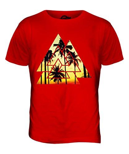 CandyMix Valknut Palmen Herren T Shirt Rot