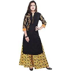 Nikks Fashions Women's Cotton Kurti & Palazzo (NK5489A_XXL,Multi-Coloured,XX-Large)