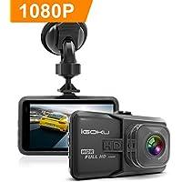 Coche Dash Cam Full HD 1296P en coche Dash Cam coche Blackbox cámara grabadora de conducción con visión nocturna G-sensor grabación en bucle 24horas vigilancia WDR gran angular de 120grados