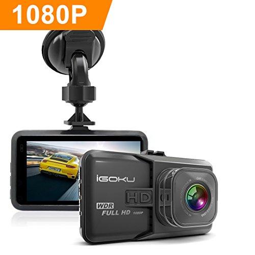Dashcam HD AutoKamera, iGOKU 3.0 Zoll LCD 1080P Full HD Autokamera Infrarotfunktion DVR mit 170°  Weitwinkelobjektiv, Bewegungserkennung, G-Sensor, WDR, Parkschutz , Loop Recording, 24h Überwachung