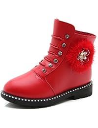 Qianliuk Mädchen Chelsea Boots, Rot - rot - Größe: 18