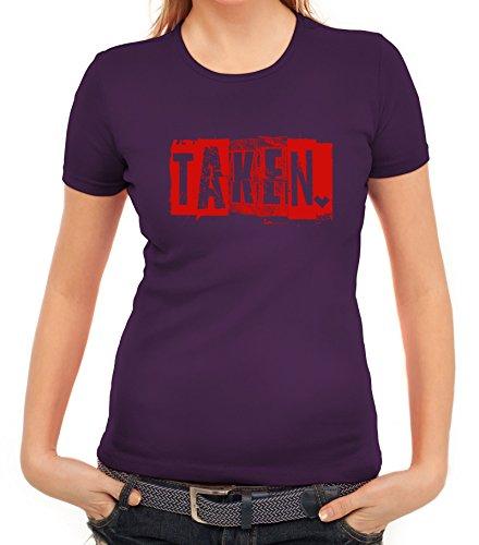 Valentinstag Damen T-Shirt mit Taken. Motiv von ShirtStreet Lila