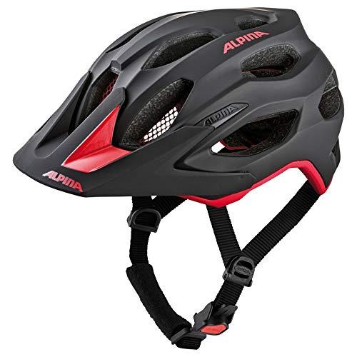 Alpina Unisex– Erwachsene Carapax 2.0 Fahrradhelm, Black-red, 52-57 cm