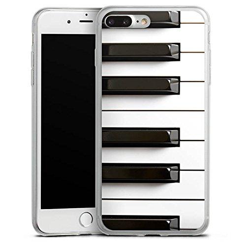 Apple iPhone 8 Slim Case Silikon Hülle Schutzhülle Piano Klavier Musik Silikon Slim Case transparent