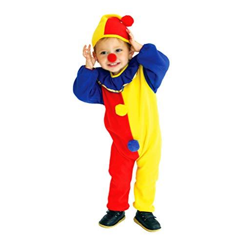Amosfun Traje de Traje de Payaso Divertido para niños Disfraces de Manga Larga Lindos para Cosplay de Halloween Masquerade Performance (S)