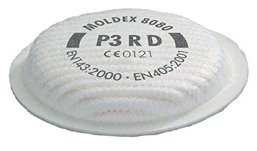 Preisvergleich Produktbild Moldex Partikelfilter P3 R D für Serie 4000,  5000 und 8000,  8 Stück,  8080