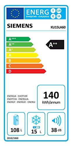 Siemens KU15LSX60 1,3 / A++ / 82 cm / 140 kWh/Jahr / 108 L Kühlteil / 15 L Gefrierteil/Große Auszugschale