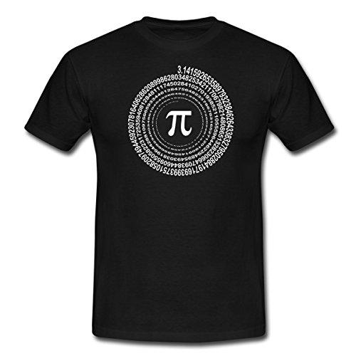 Spreadshirt Pi Spirale Männer T-Shirt, XL, Schwarz