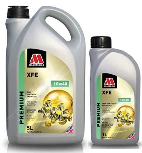 Millers Oils XFE 10w40 A3/B4 - Olio Motore Semi-Sintetico ad Alte Prestazioni, 6 Litri