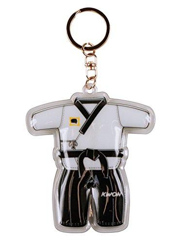 KWON® Schlüsselanhänger ANZUG TAE KWON DO TKD Taekwondo Anhänger Geschenk Geschenkidee Poomsae Kinder Kids Damen Herren Taekwondoanzug mini klein deko figur