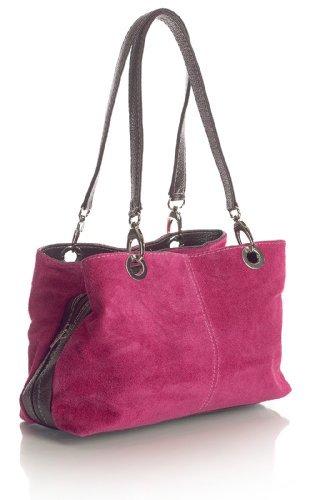 big-handbag-shop-womens-small-twin-top-multi-zip-pockets-suede-leather-shoulder-bag-3-mp-hot-pink-br