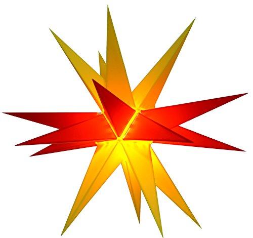 44b7a9192ef608 Guru-Shop Melchior Outdoor II Bicolor Amarillo/rojo, Estrella Exterior 3D  muy Estable