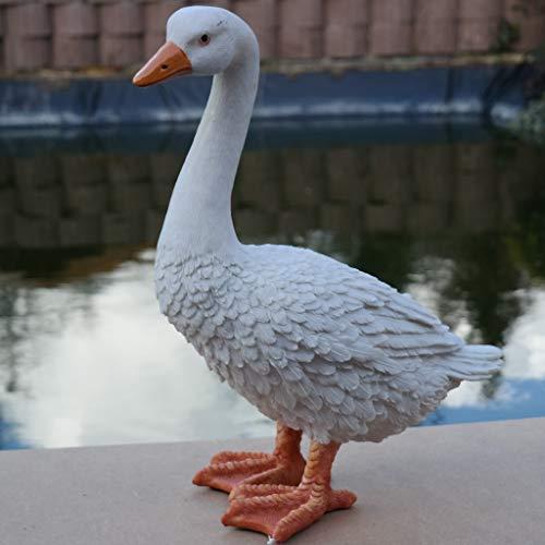 Dekofigur Gans Ente Vogel Erpel Tierfigur Deko Ostern Weihnachten GartenTeich | Dekoration > Figuren und Skulpturen > Tiere | FDSt