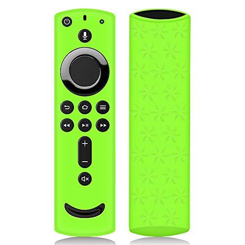 Hydream Schutzhülle für Fire TV Stick 4K / 4K Ultra HD mit der Neuen Alexa-Sprachfernbedienung (2.Gen), Flexibel Leichte rutschfeste Stoßfeste Silikon Fernbedienung Silikonhülle Cover Hülle (Grün)