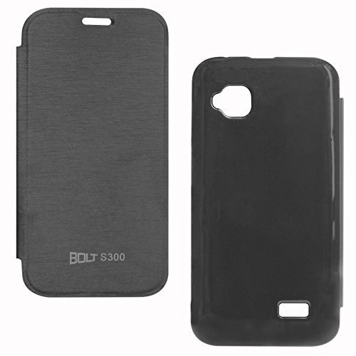 DMG Flip Book Hard Back Protective Cover CaseFor Micromax Bolt S300 (Black)  available at amazon for Rs.199