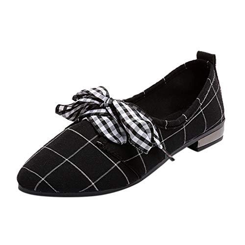 90a8336b BHYDRY Zapatos Casuales de Corte bajo del Arco de la Mujer Moda Boca Baja  Zapatos Planos en Punta