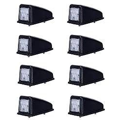 8x 3SMD LED bianco tetto anteriore luce di indicatore laterale 12V 24V e-contrassegnato auto camion rimorchio camper caravan Van luce di posizione Cab top universale