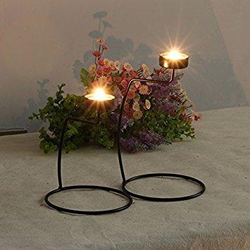 home-organizer Tech Kerzenlicht Abendessen Hochzeit-Eisen-Kerzenhalter, schwarz, L