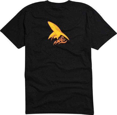 T-Shirt Herren Haifisch attack Schwarz