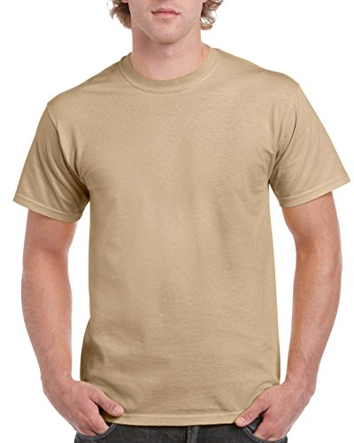 Gildan Ultra Cotton ™ Adult T-Shirt Tan S (Ringer Herren T-shirt Schule)