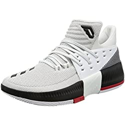adidas D Lillard 3 - Zapatillas de baloncesto para Hombre, Blanco - (FTWBLA/NEGBAS/ESCARL) 43 1/3