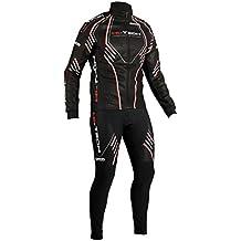 Completo invernale ciclismo giacca + calzamaglia nero hitech made in Italy windstopper termico bici mtb (L)