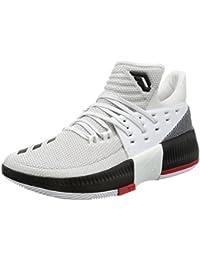 adidas D Lillard 3 - Zapatillas de baloncesto para Hombre, Blanco - (FTWBLA/NEGBAS/ESCARL) 41 1/3