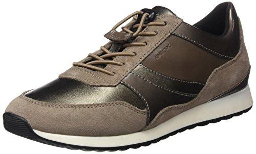 Geox Damen D Deynna E Sneaker Braun (Taupe)
