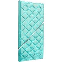 Woodmin Premium Shiny Portafoglio Porta Passaporto Della Carta di Identificazione del Cuoio Sintetico per la Corsa (lime verde)