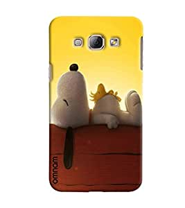 Omnam Dog Sleeping And Relaxing Printed Designer Back Cover Case For Samsung Galaxy A8