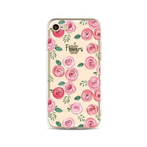 Coque iPhone 6Plus/6s Plus Housse étui-Case Transparent Liquid Crystal Fleur en TPU Silicone Clair,Protection Ultra Mince Premium,Coque Prime pour iPhone6Plus/6s Plus-style 2 style 4