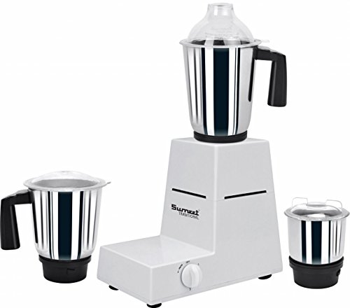 Sumeet Traditional Sanghini 550-Watt Mixer Grinder with 3 Jars (White)