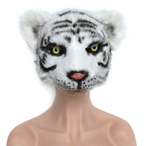 Tiger Weiße Deluxe Kostüm Kinder - QNFNB Weiß Tiger Kopfbedeckung Deluxe Neuheit Tier Maske