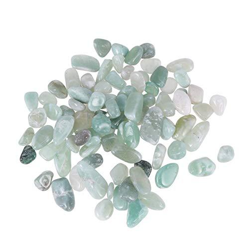 Healifty 500g Edelstein Perlen Naturstein Chips für Schmuckherstellung Basteln DIY Armband Vase Garten Aquarium Deko (Dongling Jade) (Jade-chip-armband)