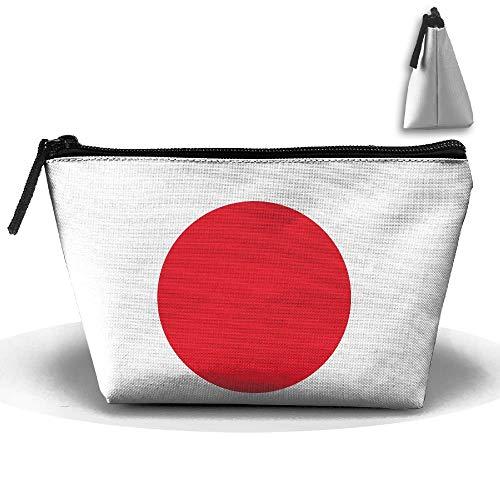 Japan-Flagge tragbarer hängender Reise-Kulturbeutel wasserdichter Reißverschluss-Organisator