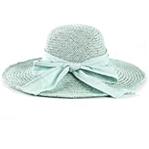 Yingsssq Gorro Grande Sombrero de Verano Sombrero de Paja de Ganchillo  Hecho a Mano Sombrero de 1e07527bf5f