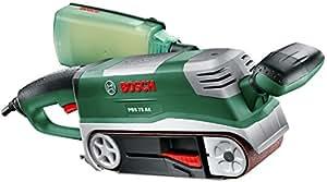 """Bosch Ponceuse à bande """"Expert"""" PBS 75 AE Set avec 2 serre-joints, 1 butée parallèle et angulaire, 1 support et 1 bande abrasive 06032A1101"""