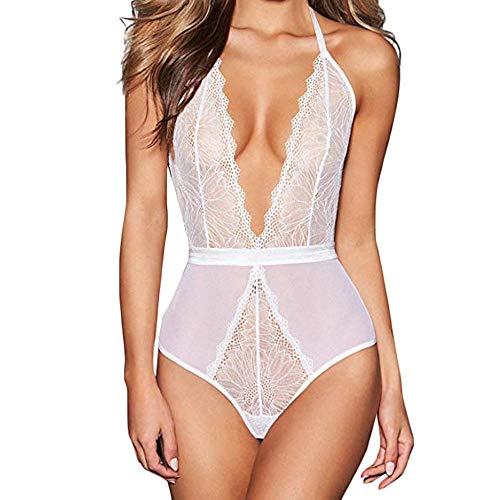 CZHJG Grande Taille Lingerie Sexy Hot érotique Costumes Femmes Porno Sexe Nuisette Chemise Transparente Sexy sous-vêtements S-3XL vêtements de Nuit Blanche M Lingerie Sexy Chaude