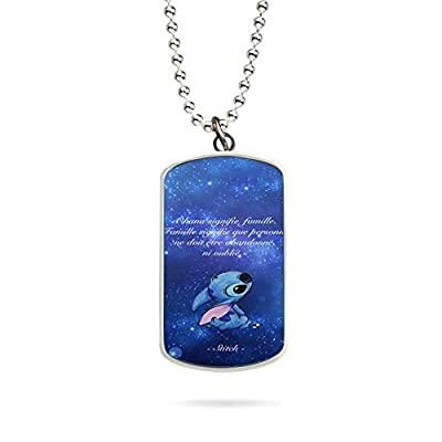 Collier Pendentif Necklace Ohaha Signifie Famille Galaxie Disney Lilo Stitch