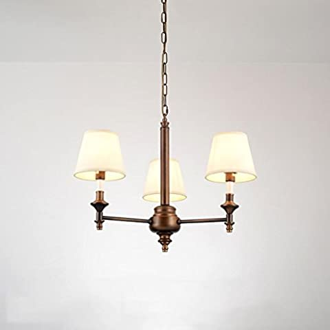 Chandelier American Living Room Bedroom Study Suction Hanging Dual-Use Iron Chandelier Simple Modern Country Classical Luxury Retro Chandelier B3
