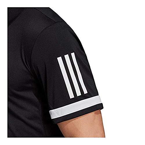 Adidas Men's Tennis Club 3-Stripe Polo Black/White Small