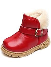 a44e6f44c Botas de Nieve para niños Botas de Felpa de Invierno cálido para niños Botas  Cortas de