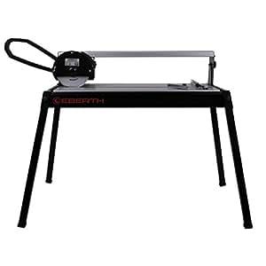 EBERTH 620 mm Coupe carrelage électrique avec Laser (Pivotant progressivement jusqu'à 45°, 36 mm Profondeur de coupe, Disque en diamant)